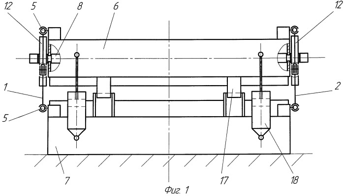 Механизм стабилизации положения верхней плиты закалочного устройства