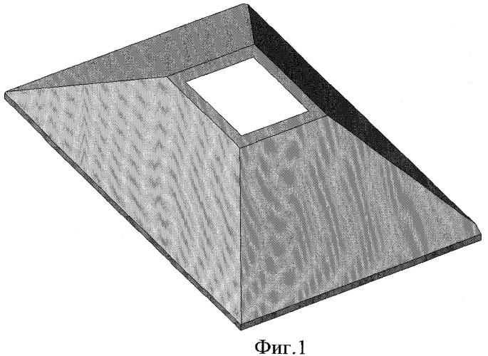 Фундамент-оболочка плавучего массива, устанавливаемого на дно акватории наплавным способом