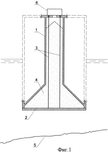Фундамент плавучего массива, устанавливаемого на основание наплавным способом