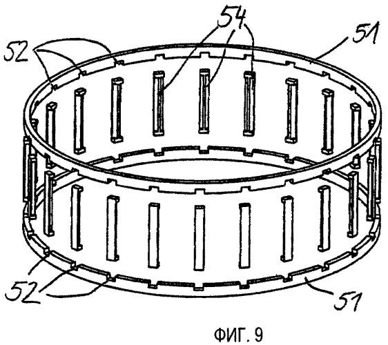 Сепаратор подшипника качения, составленный из нескольких частей