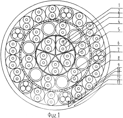 Симметричный неэкранированный 25-парный кабель 5e категории с улучшенными характеристиками и с оптическими волокнами