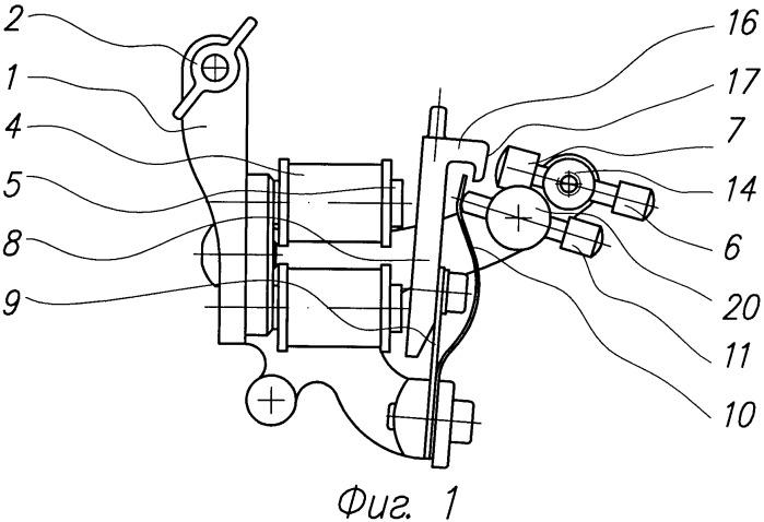 Татуировочная машина с регулировкой жесткости удара