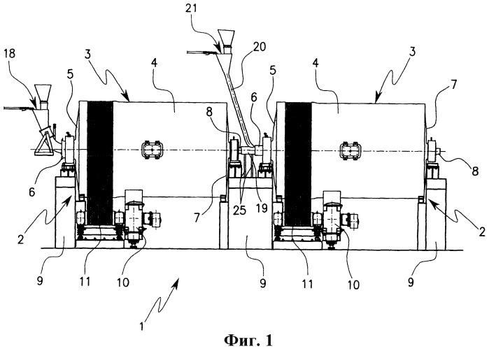 Cоединительная система между расположенными последовательно измельчителями непрерывного действия в установке для измельчения