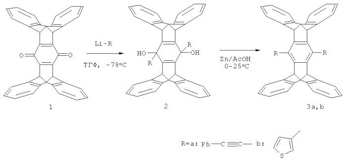 Способ получения 1,4-дизамещенных [1.1.1b.1.1] пентиптиценов