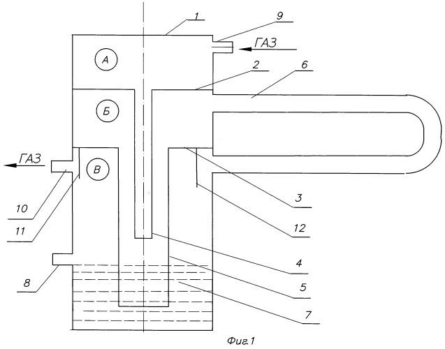 Жидкостный затвор для электролизно-водного генератора