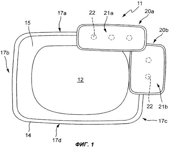 Раковина и система санитарно-технической арматуры, размещенная на раковине
