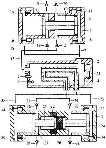Комбинированный свободнопоршневой электрогазогенератор