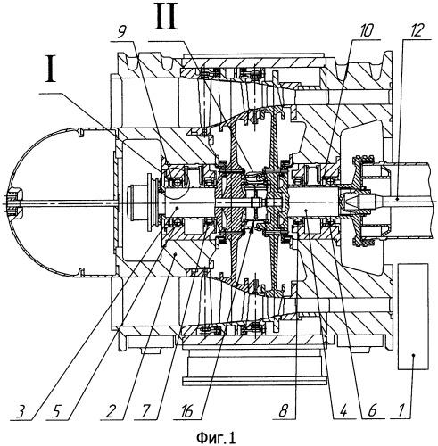 Система регулирования осевых сил на радиально-упорном подшипнике ротора турбомашины