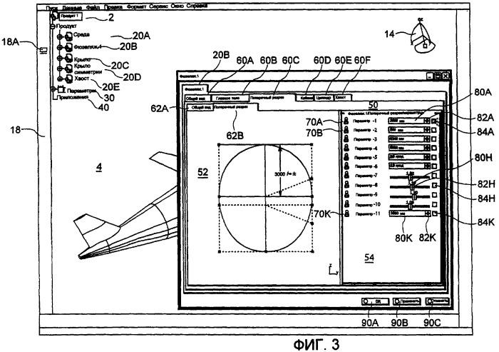 Способ и устройство генерирования параметрической модели, связанной с геометрией трехмерных объектов