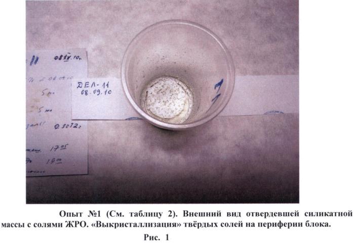 Способ низкотемпературной иммобилизации жидких радиоактивных отходов