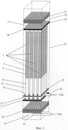 Электрохимический генератор на твердооксидных топливных элементах