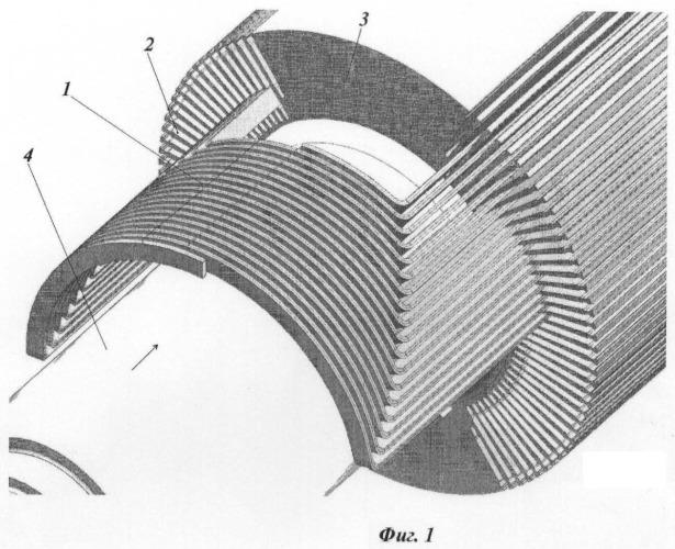 Ротор синхронной неявнополюсной электрической машины