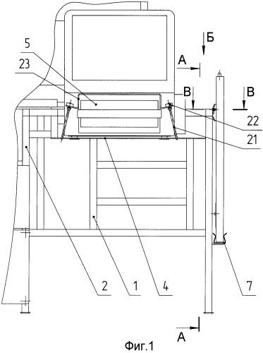Стол для размещения аппаратных средств в подвижном объекте