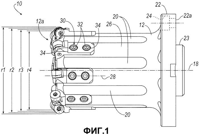Многокассетный режущий инструмент и расточный узел для колес подвижного состава