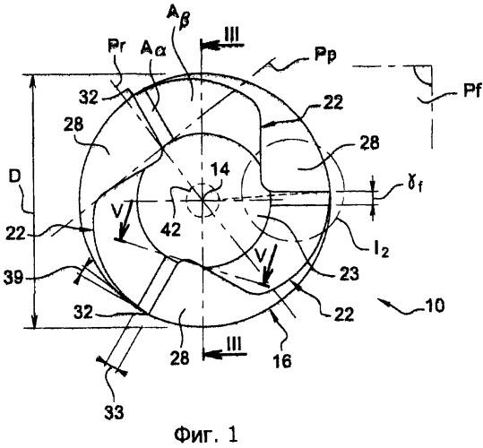 Шпоночная фреза для механической обработки с большой подачей и малой глубиной прохода и способ фрезерования детали указанной фрезой