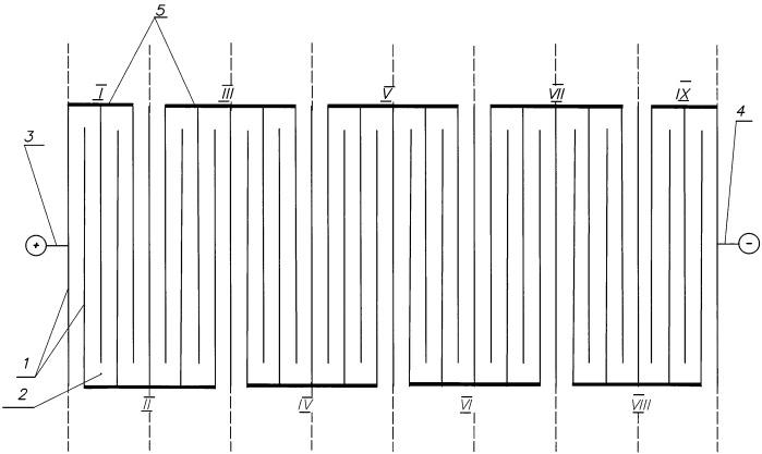 Монополярно-биполярный электролизер для получения смеси водорода и кислорода