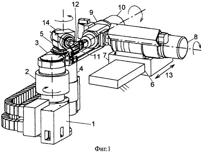 Устройство для механической обработки изделий сложной пространственной формы
