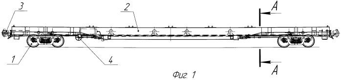Железнодорожная длиннобазная платформа для крупнотоннажных контейнеров