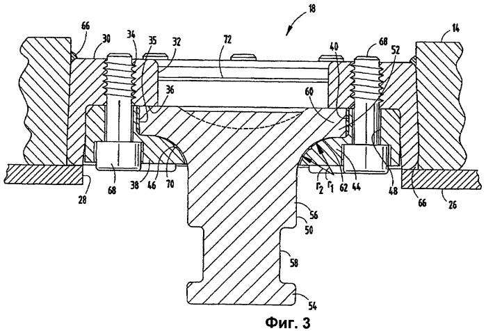 Поворотный захватный узел сцепного шкворня седельно-сцепного устройства