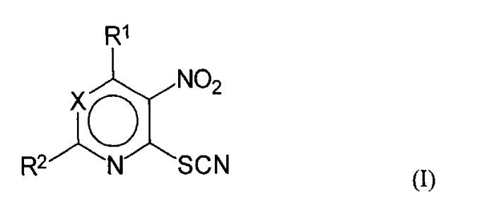 2-нитрогетерилтиоцианаты для лечения грибковых инфекций, фармацевтическая композиция и их применение
