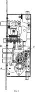 Врезной замок с зубчатым элементом разблокирования запорного ригеля