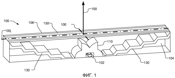 Компактная оптическая система и линзы для формирования равномерного коллимированного света