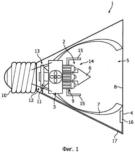 Осветительное устройство и способ охлаждения осветительного устройства