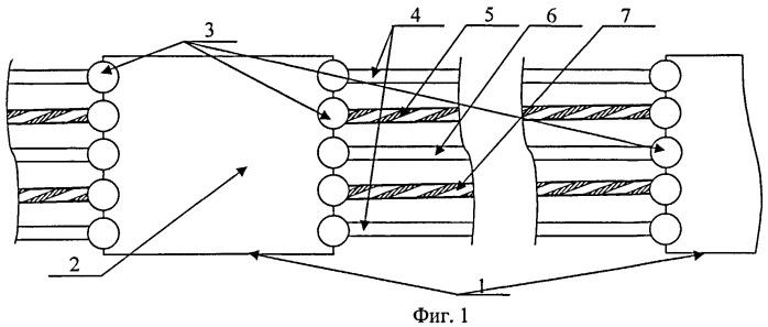 Гибкая протяженная гидроакустическая антенна и способ ее изготовления