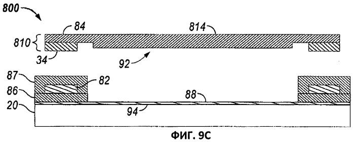 Микроэлектромеханическое устройство, в котором оптическая функция отделена от механической и электрической