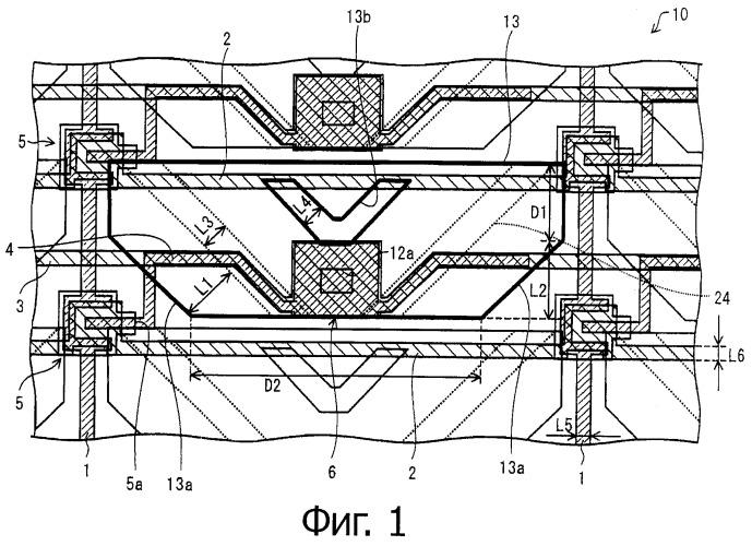 Подложка матрицы, жидкокристаллическое устройство отображения, электронное устройство
