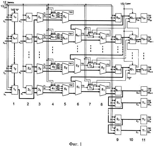 """Устройство для умножения чисел в коде """"1 из 4"""""""