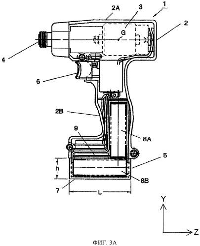 Аккумуляторная батарея и аккумуляторная ручная машина с ее использованием