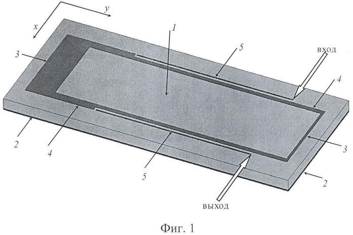 Микрополосковый полосно-пропускающий фильтр