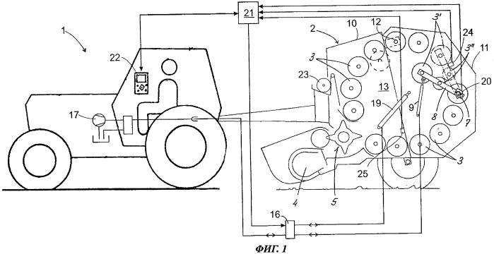 Машина для прессования цилиндрических тюков