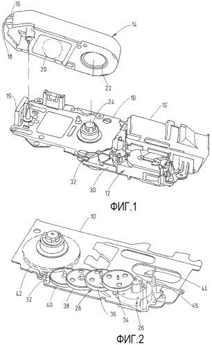 Аналитический инструмент с тестовой лентой, содержащий двигатель постоянного тока и редуктор