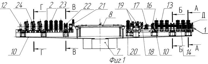 Рабочая линия трубоэлектросварочного агрегата