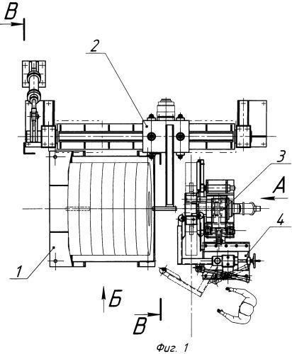 Установка для снятия рулонов с накопителя и установки их на разматыватель