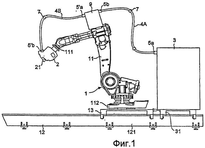 Установка для укладки волокон с гибкими трубами направления подачи волокон