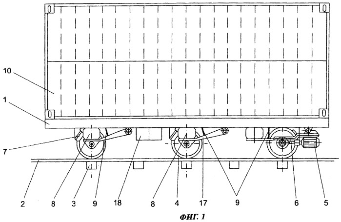 Система автоматической транспортировки груза на монорельсе посредством электрических платформ с боковым стабилизатором
