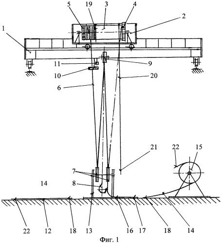Схема запасовки каната мостового крана