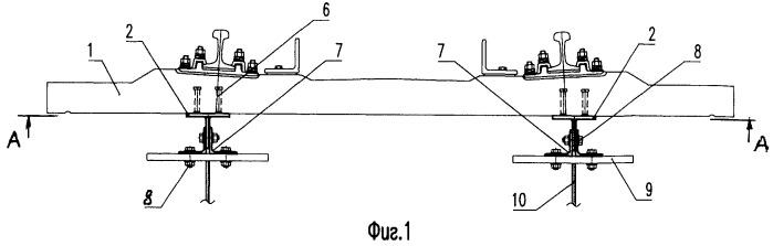 Устройство для соединения железобетонной плиты проезда с главными балками пролетного строения железнодорожного моста