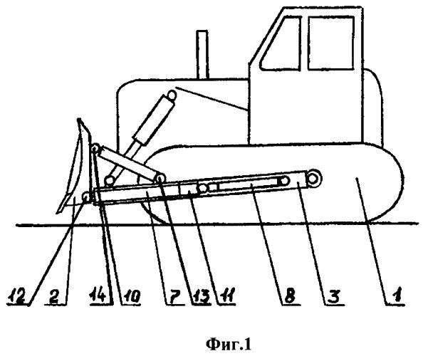 Бульдозер с выдвижным отвалом