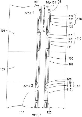 Система для использования в стволе скважины, имеющем множество зон, (варианты) и способ обработки указанного ствола скважины