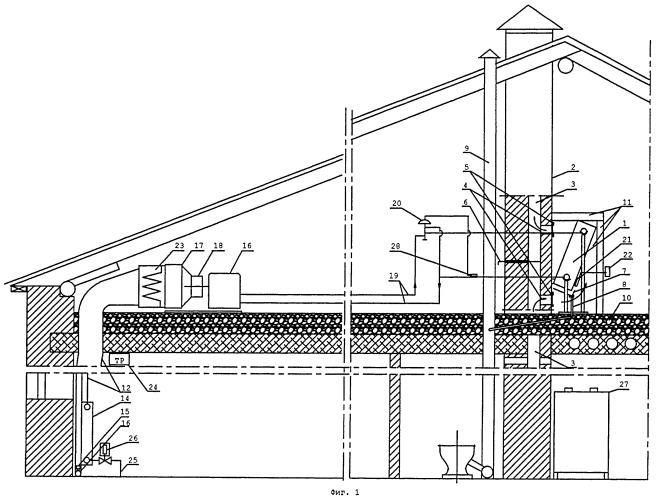 Устройство для сбережения тепла и кондиционирования воздуха в жилых зданиях