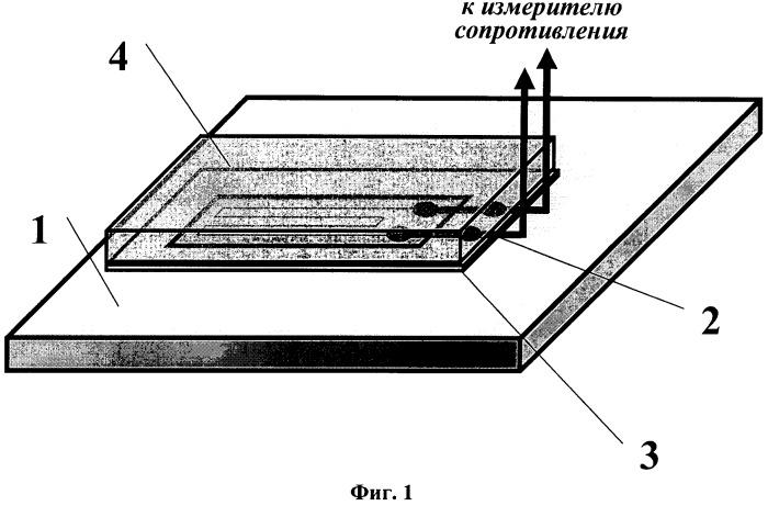Способ измерения температуры поверхности конструкции резистивным чувствительным элементом, устройство для его осуществления и способ изготовления устройства