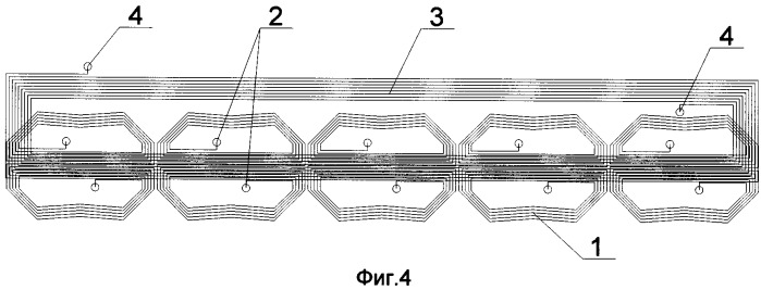 Блок катушек для электромагнитно-акустических преобразователей
