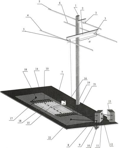 Система отбора мощности от трехфазной линии передачи высокого напряжения