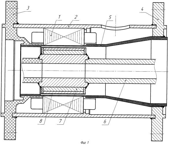Герметичный экранированный электродвигатель