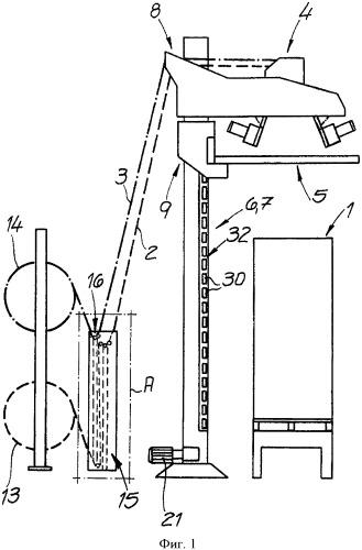 Устройство и способ для обертывания пленкой штабеля продуктов