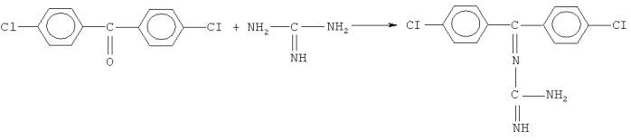 Кетимины на основе 4,4'-дихлорбензофенона, гуанидина или аминогуанидина и способ их получения